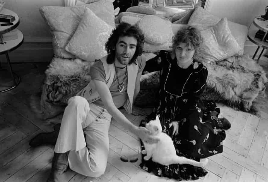 British fashion designer Ossie Clark with Birtwell, in 1971.