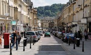Milsom Street, in central Bath.