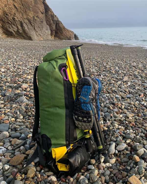 Rucksack with packrafting gear.