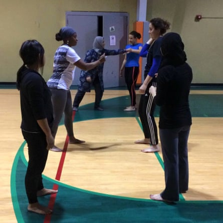 Zaineb Abdulla self-defence class