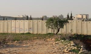 The wall at Qalandia.
