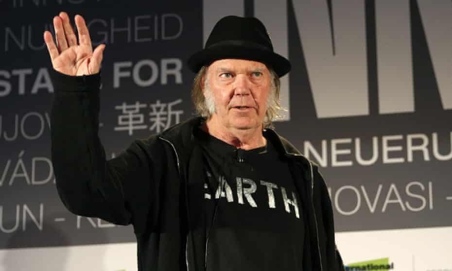 Neil Young … 'Family farms have been replaced by giant agri corp farms across this great vast country we call home.'