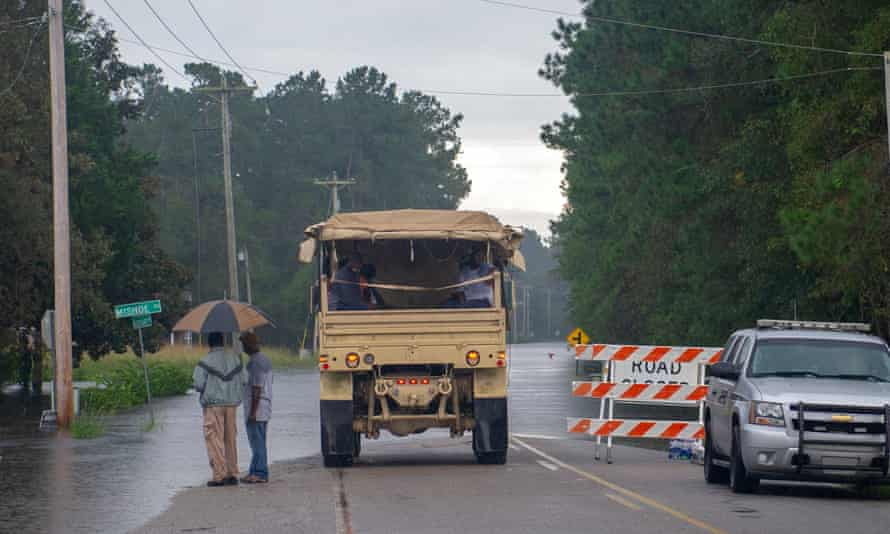 The National Guard helps flood victims