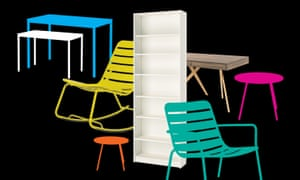 Office and garden furniture from Ikea and Made.com.