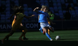 Manchester City's Sam Mewis in action