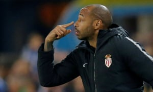 Thierry Henry tries to get his point across to his woefully out of form Monaco players.