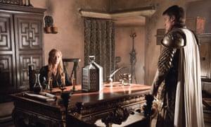 Lena Headey as Cersei Lannister and Nikolaj Coster-Waldau as Jaime Lannister.