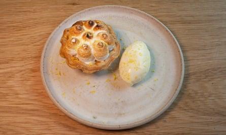 'It's very pretty to look at': lemon meringue tart.