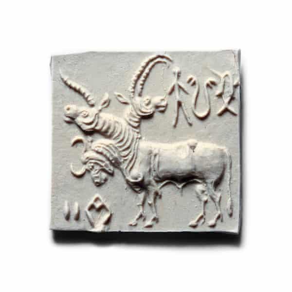 An Indus Valley seal circa 3000 BC.