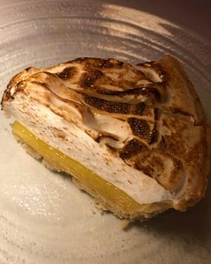 'Will it be flamed now?' Lemon meringue pie.