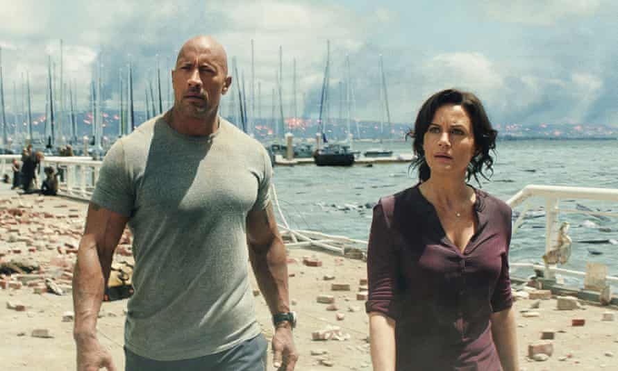 Gugino with Dwayne Johnson in San Andreas.