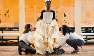Debbie Korley as former slave Mercy, in rehearsals for the RSC production of The Whip.