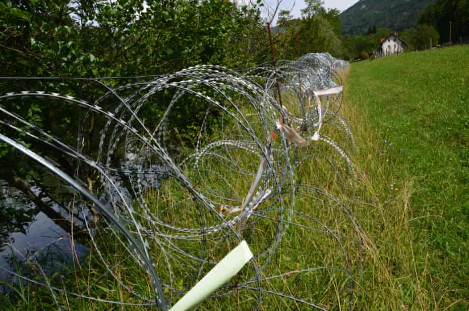Razor-wire fence built by Slovenia is killing wildlife
