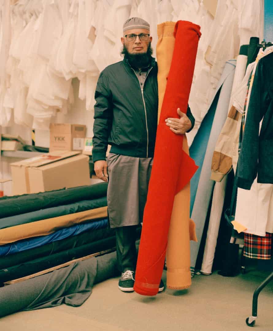Ismail Sidat, 60, sewing team leader, wears Harrington jacket, £109.