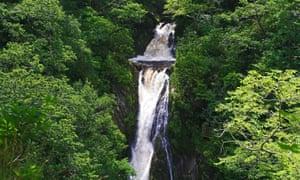 Mynach Falls on the Afon Mynach at Devil's Bridge