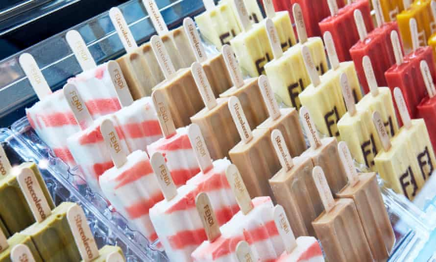 The £4 Fendi lolly comes in 12 flavours.