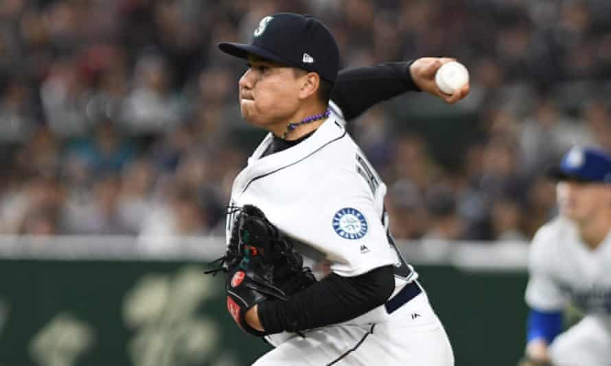 Starting pitcher Erasmo Ramirez, who is now a free agent, was one of a number of Latino players who appeared for the Mariners last season