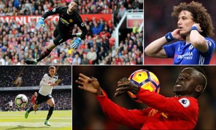 Manchester United goalkeeper David De Gea, Chelsea's David Luiz, Liverpool's Sadio Mane and Tottenham Hotspurs' Dele Alli have all made the PFA Premier League team of the year.