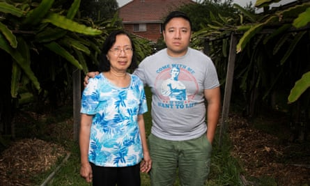 Quynh Trang Truong with her son Daniel Chau at their home in Sydney