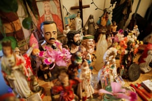 A statuette of Hernandez is placed on an altar in a house in the Catia neighbourhood of Catia in Caracas