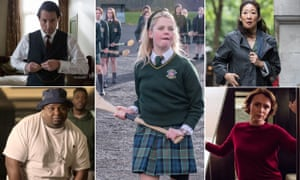 BAFTA nominations 2019. Hugh Grant in the BBC's A Very English Scandal; Channel 4's Derry Girls; Sandra Oh in BBC's Killing Eve, Keeley Hawes in BBC's the Bodyguard and and Channel 4's the Big Narstie Show.