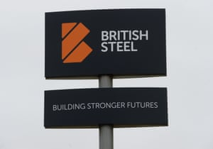 A British Steel sign.