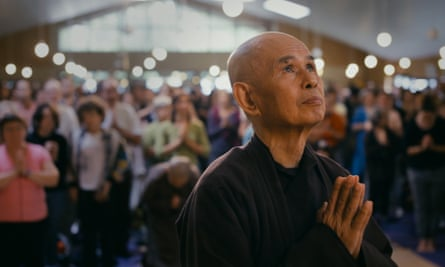 Mindful moment ... monk Thich Nhat Hanh at the Plum Village retreat in France.