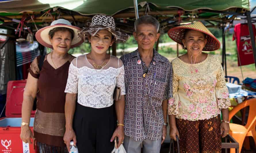 Visitors to the Tham Luang Nang Non Cave