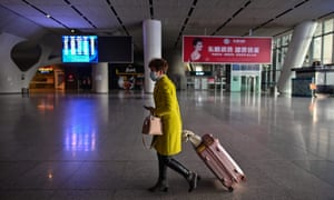 The Wuhan railway station on Saturday, where the first trains arrived after two months of lockdown.