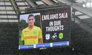 A tribute to Emiliano Sala prior to the FA Cup match between Swansea City and Gillingham.