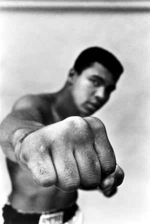 Muhammad Ali shows off his right fist, Chicago, 1966.