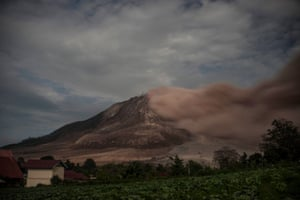Sinabung is one of 129 active volcanoes in Indonesia, which sits on the Pacific ring of fire, a belt of seismic activity running around the basin of the Pacific Ocean