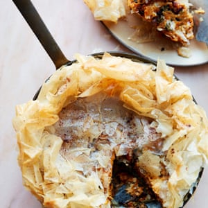 Anna Jones' sweet potato and feta pastilla.