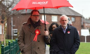 Labour's Gareth Snell (left), with Jeremy Corbyn