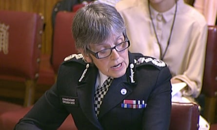 Cressida Dick addresses parliament's human rights committee.