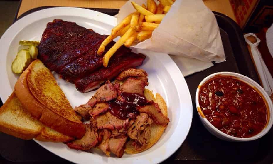 A meat feast at Joe's Kansas City Bar-B-Que.
