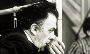 Film director Federico Fellini on the set of 8½ in 1963.