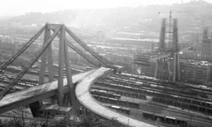 Morandi Bridge under construction in 1965.