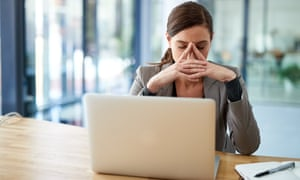 Simple steps can lift the strain from working online.