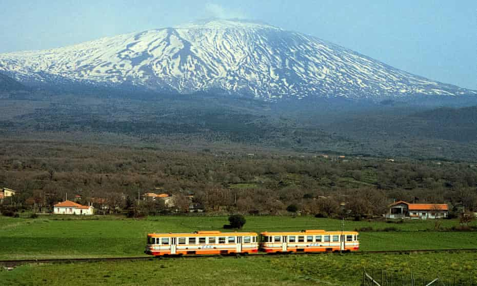 Under the volcano … the Etna circuit train.