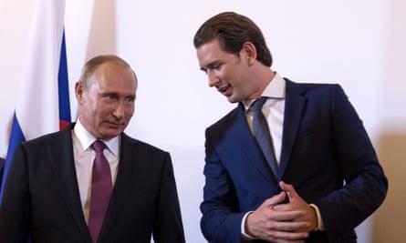 Vladimir Putin and Sebastian Kurz.