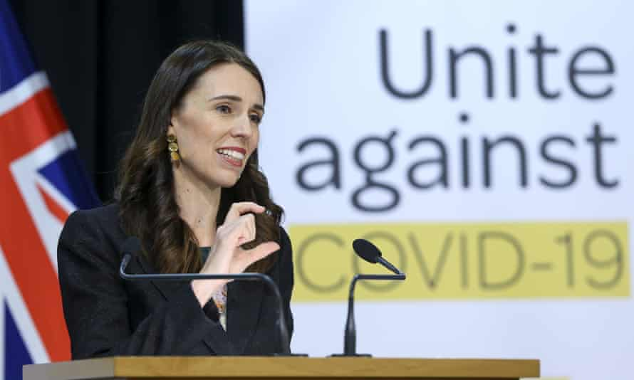 Jacinda Ardern speaks to media during a press conference in Wellington on Wednesday.