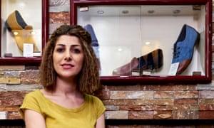 Kanny Ahmadi, founder of the Luminous Spring shoe shop in Erbil.