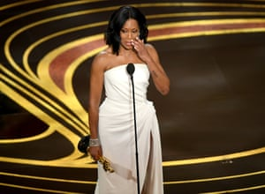 Regina King, who won for her portrayal of a mother whose son is framed for rape in If Beale Street Could Talk
