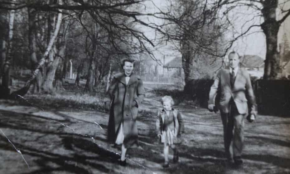 Ros Coward with her parents on Wimbledon Common in the 1950s.