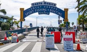 Santa Monica Pier in Los Angeles has shut down