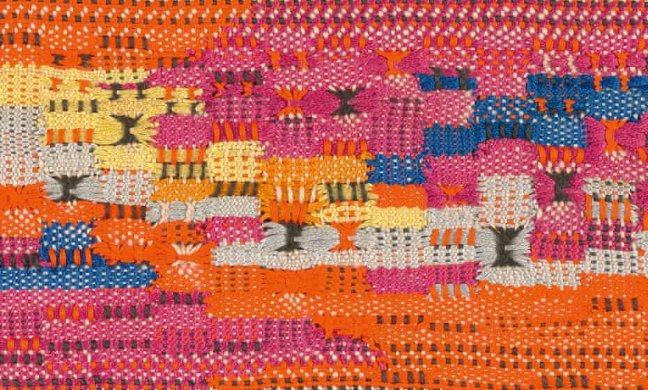 South of the Border, 1958 (detail) by Anni Albers.
