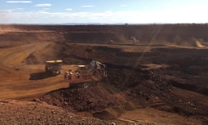 An iron ore mine in Western Australia.