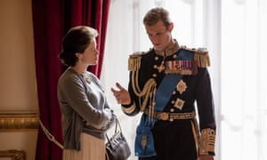 Claire Foy and Matt Smith in The Crown, which cost £10m an episode.