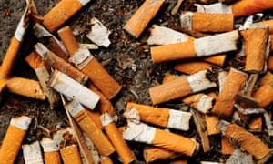 Cigarette stubs